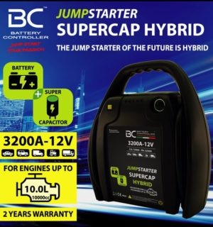 Бустер за акумулатори BC Jumpstarter Supercap Hybrid 12V 3200A