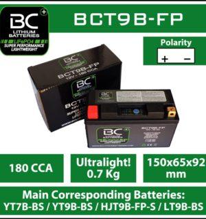 BC Lithium Battery BCT9B-FP