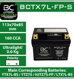 BC Lithium Battery BCTX7L-FP-S