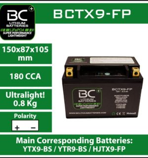 BC Lithium Battery BCTX9-FP