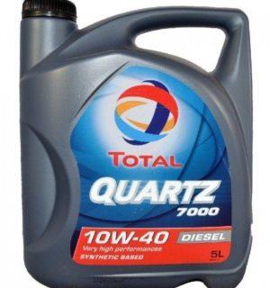 TOTAL QUARTZ 7000 10W40 5L Diesel